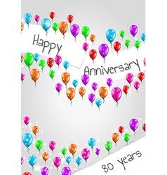 anniversary poster 80 years vector image