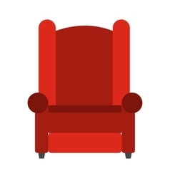 Armchair flat icon vector image