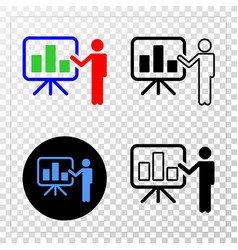 bar chart public report eps icon with vector image