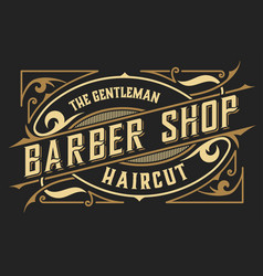 Barber shop logo western style vector