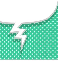 Blank green balloon template vector