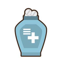 bottle medicine dispenser container vector image