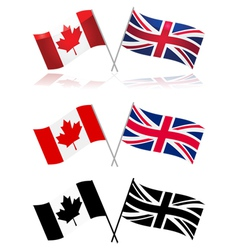 canada and uk vector image