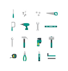 cartoon hand tools color icons set vector image vector image