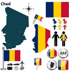 Chad map vector image