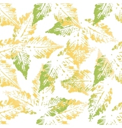 Chestnut leaves seamless pattern vector image