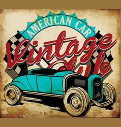 Classic garage - eps10 tee graphic design vector