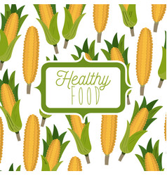 colorful poster of healthy food with background vector image