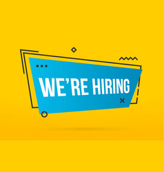 creative of we are hiring vector image