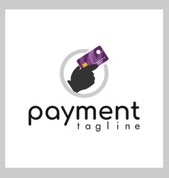 credit card payment logo vector image