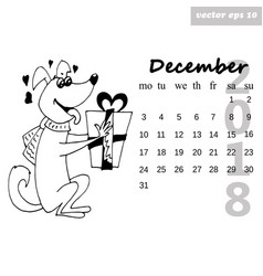 december dog vector image