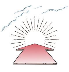 direction arrow aim to the sunburst vector image