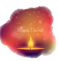 Diwali festival diya lamp vector