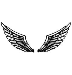 eagle wings on light background design element vector image