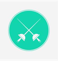 fencing icon sign symbol vector image