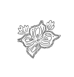 flower plant colouring book entangle coloring vector image