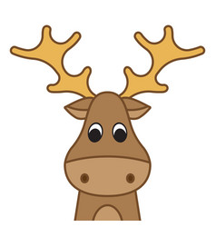 Funny christmas moose vector