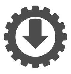Gear and arrow solid icon mechanic vector