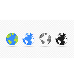 globes set collection on transparent background vector image