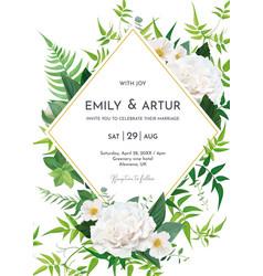 greenery wedding invite save date card design vector image
