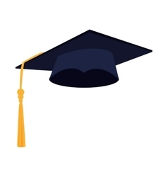 Hat graduation achievement vector