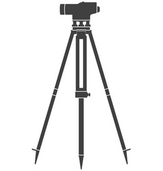 icon construction level on tripod vector image