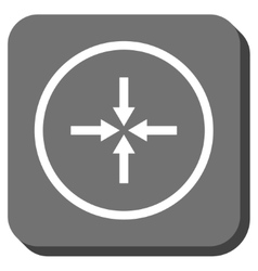 Impact Arrows Rounded Square Icon vector