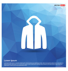 Jacket with hood icon vector