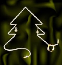 Jewel and christmas tree vector
