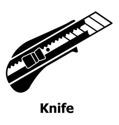 knife icon simple black style vector image