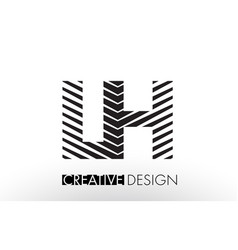 Lh l h lines letter design with creative elegant vector