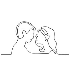 Man and woman silhouettes in love vector