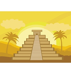 Maya Pyramid Chichen-Itza Mexico vector
