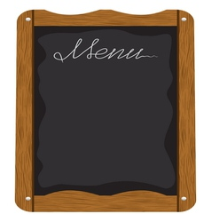 Menu board outside a restaurant or cafe vector