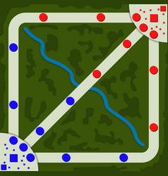 Moba game map plan vector