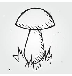 Mushroom isolated hand drawn vector