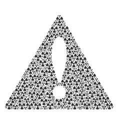 Notice triangle sign collage of radioactivity vector