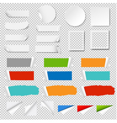 paper label isolated transparent background vector image