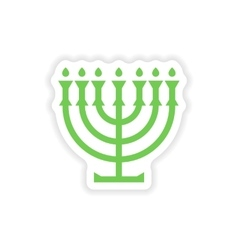 paper sticker on white background candlestick vector image