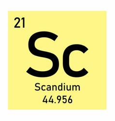 Periodic table element scandium vector