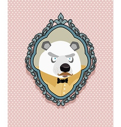 Portrait of a panda bear with a mustache in a vector image