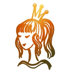 princess beauty queen vector image
