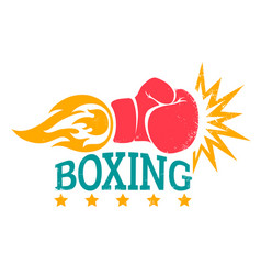 retro logo for boxing vector image