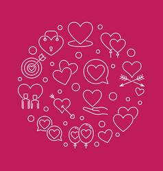 romantic friendship round in vector image
