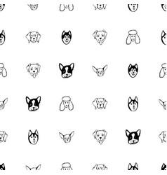 seamless pattern with dog breeds bulldog husky vector image