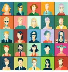 set avatars flat design vector image
