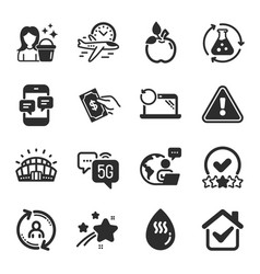 Set business icons such as sports stadium vector