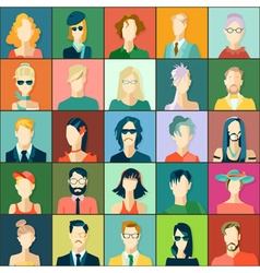 Set of avatars flat design vector image