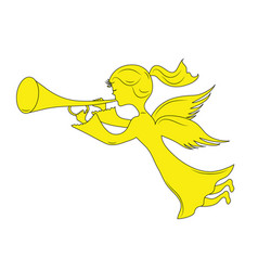 small angel vector image