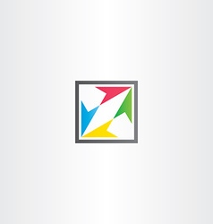 square icon with colorful arrows vector image